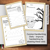 Cursive Handwriting Owls