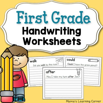 Handwriting Worksheets For Kids Dolch First Grade Words Tpt