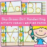Handwriting Activity Cards and Paper - Sky, Grass, Dirt Format