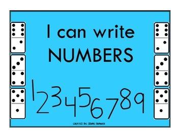 Handwriting Practice - Writing Numbers - 0-9