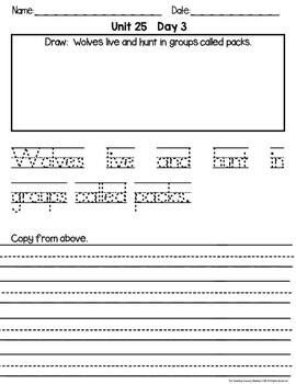 Handwriting Yearly Unit:  Grade 1