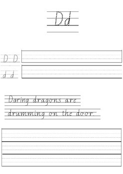 Handwriting activity