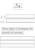 Handwriting activity