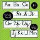 Handwriting alphabet line chart (print & cursive)