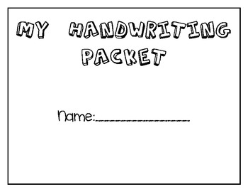 Handwriting and Alliteration Packet