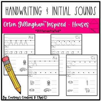 Handwriting and Beginning Sound Pages