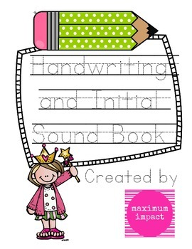 Handwriting and Initial Sound Book