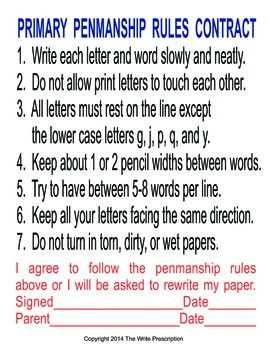 Handwriting and Penmanship Skills  How to Write Right!