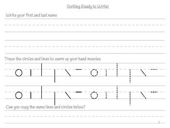 Phonological Awareness/Handwriting Workbook