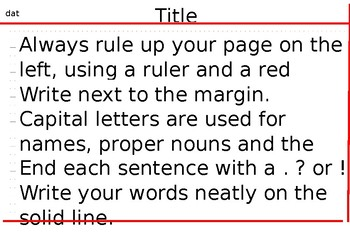 Handwriting and Presentation Prompt Card - EDITABLE
