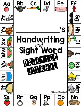 Handwriting and Sight Word Practice Packet