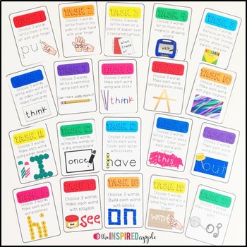 Handwriting and Sight Word Practice Task Cards