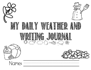 Handwriting and Weather Journal Daily Manuscript Writing Everyday Journal