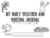 Handwriting and Weather Journal Daily Manuscript Writing E