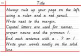 Handwriting and Work Presentation Reminder Card - Victoria