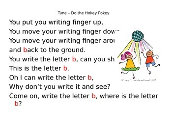 Alphabet Handwriting, Phonics Rhymes and Chants Powerpoint