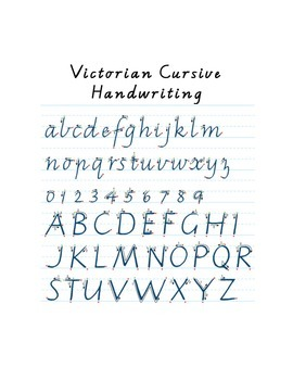 Handwriting book - victorian cursive