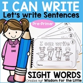 HANDWRITING WORKBOOKS with PRE-PRIMER SIGHT WORDS