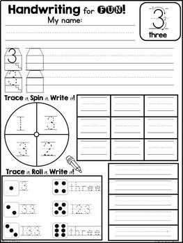 Handwriting for FUN! FREEBIE: Interactive Number Writing Practice