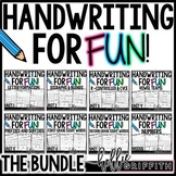 Handwriting for FUN! {The Bundle}: Interactive Handwriting