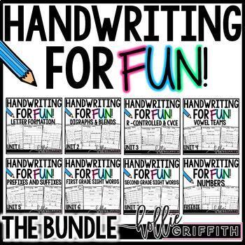 Handwriting for FUN! {The Bundle}: Interactive Handwriting