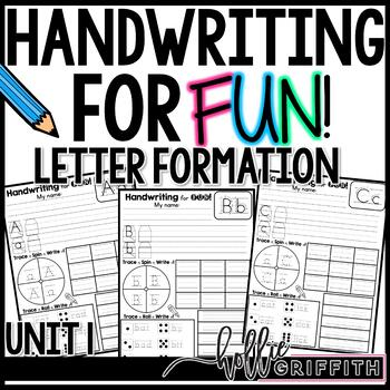 Handwriting for FUN! Unit 1: Letter Formation {Interactive Handwriting Practice}