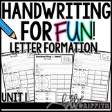 Handwriting for FUN! Unit 1: Letter Formation {Interactive