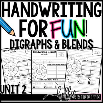 Handwriting for FUN! Unit 2: Digraphs and Blends {Interactive Practice}