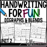 Handwriting for FUN! Unit 2: Digraphs and Blends {Interact