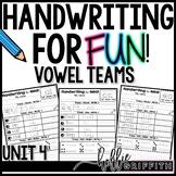 Handwriting for FUN! Unit 4: Vowel Teams {Interactive Hand
