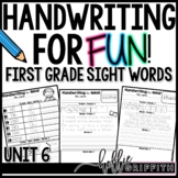 Handwriting for FUN! Unit 6: Sight Word Poems {1st Grade D