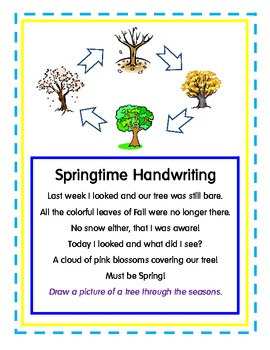 Handwriting for Spring! Original Poems!