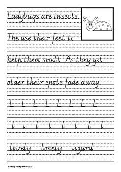 Handwriting for Year 2 - Vic modern cursive script