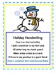 Handwriting for the Holidays!