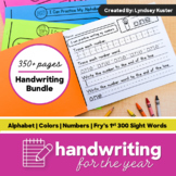 Handwriting for the Year Bundle