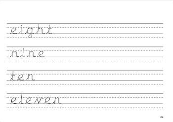 Handwriting numbers