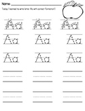 Handwriting of A-Z ** Letter Formation Introduction & Student Practice Pages