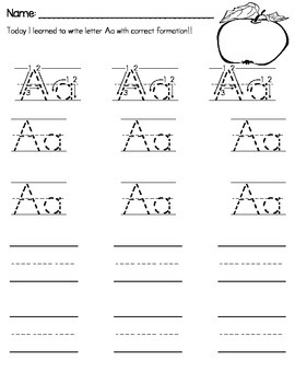Handwriting of A-Z ** Letter Formation Introduction & Stud