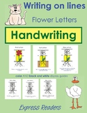 Handwriting on lines - Flower Letters