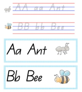 Handwriting pack QLD Beginners write and wipe plus display posters