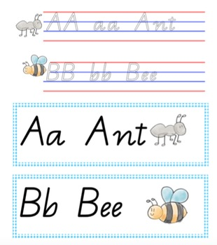 Handwriting pack QLD Cursive write and wipe plus display posters