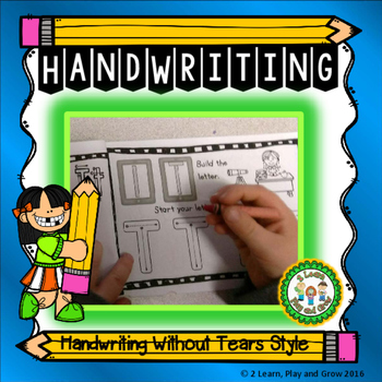 Handwriting Without Tears Style Practice Sheets