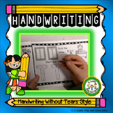 Handwriting Without Tears HWT Style Practice Sheets