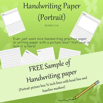 Handwriting paper (Portrait) -Free