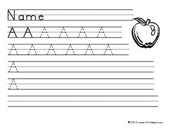 Capital A Handwriting Practice