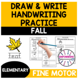 Handwriting practice draw and write FALL activities occupa