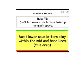 """Handwriting """"rules"""" for lower case letters"""
