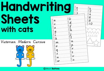Handwriting worksheets with cats