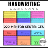Handwriting Practice Sheets with Mentor Sentences