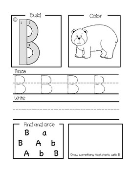 Letter of the Day Worksheets(Handwriting without Tears)